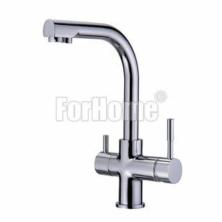 Rubinetto ForHome® 3 Vie Metal Free Per Acqua Depurata Rubinetto Per Depuratore (colore: Cromo) 3101-01 (or)