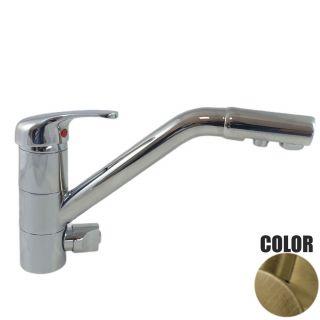 Rubinetto ForHome® 3 Vie Per Acqua Depurata Rubinetto Per Depuratore (colore: Bronzo) 3006-BR (or)