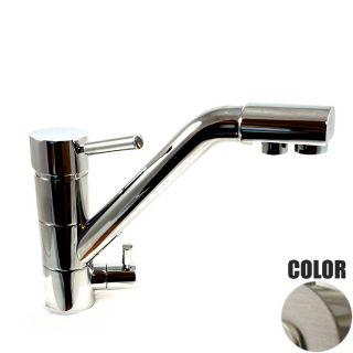 Rubinetto ForHome® 3 Vie Per Acqua Depurata Rubinetto Per Depuratore (colore: Nickel Spazzolato ) 3038-NS (or)