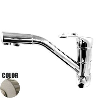 ForHome® 3 Way Tap For Purified Water Tap For Purifier (color: Nickel)     2 single outlets tap (cold water - hot water)