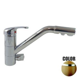 Rubinetto ForHome® 3 Vie Per Acqua Depurata Rubinetto Per Depuratore (colore: Terra di Francia) 3006-TF (or)