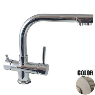 Rubinetto ForHome® 4 Vie Per Acqua Depurata Rubinetto Per Depuratore (colore: Nickel Spazzolato) 4007-NS (or)