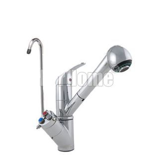 ForHome® 5 Way Tap with Extractable Shower Head For Purified Water Tap For Purifier
