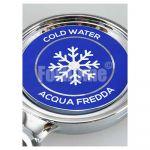 Adesivo per medaglione 70x70 mm - acqua fredda (or)