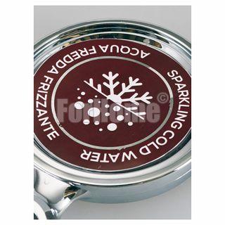 Medallion sticker 70x70 mm - cold / sparkling water