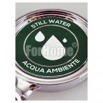 Adesivo per medaglione 70x70 mm - acqua naturale (or)