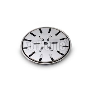 Round drip tray for polished stainless steel columns - Ø120 mm. - with grill