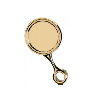 Ricambio medaglia inclinata Ø90 con distanziale - G5/8 - ABS colore ottone (per colonna Palmer) (or)