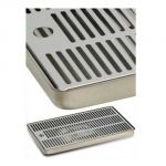 Drip tray for stainless steel columns - 600x220x30 mm. (LxWxH)
