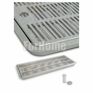 Vaschetta Raccogligocce per colonnine INOX - da incasso - 600x220x30 mm. (LxPxH) (or)
