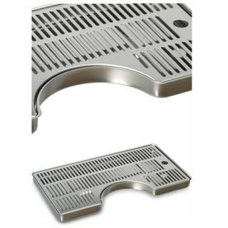 Rounded drip tray for stainless steel columns - 400x220xØ150 mm.