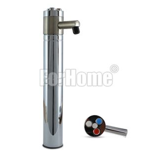 ForHome® Balance 3-Way Purified Water Tap Column in stainless steel with colored buttons