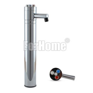 ForHome® Balance 3-Way Purified Water Tap Column in chromed brass with colored buttons