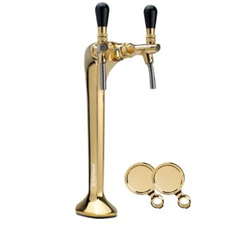 Column for tapping beer or purified water ForHome Cobra Palmer 2 ways brass Complete with: taps, medallions