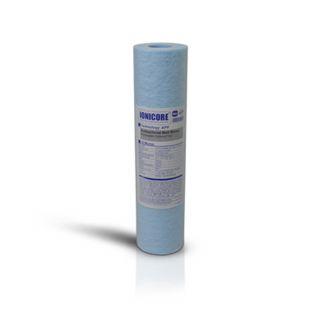"""Ionicore Blue Cartuccia Filtro Sedimento Polipropilene Soffiato Antibatterico 10"""" - 50 Micron (or)"""