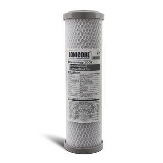"""Ionicore Cartuccia Filtro Battereostatica Carbon Block al cocco 2,5""""x10"""" - 5 micron (or)"""
