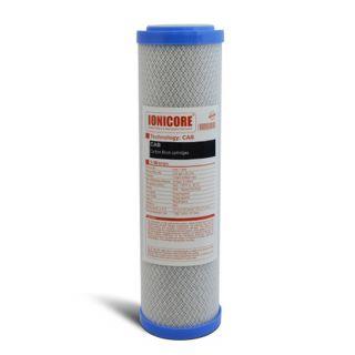 """Ionicore Cartuccia Filtro Carbon Block 2,5""""x10"""" - 5 micron (or)"""