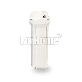 """Water Filter Container 10 """"In / Out 1/4"""" double o.ring - White ForHome"""