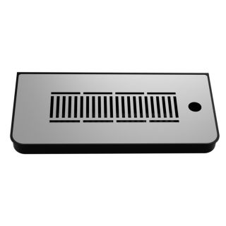ABS BLACK drip tray for columns or machines    dimension: 335X160X30 mm. (LxWxH)