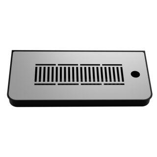 Vaschetta Raccogligocce ABS BLACK per colonnine - 335X160X30 mm. (LxPxH)