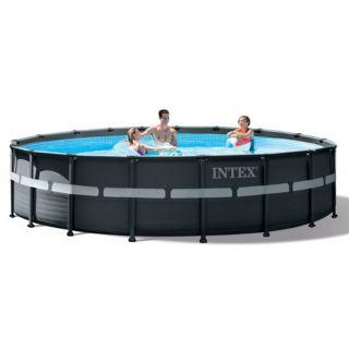 Piscina Intex Fuori Terra Rotonda Ultra XTR Frame Pools dim. 549 x 132 cm, Pompa Sabbia, Scaletta Doppia, copertura telo