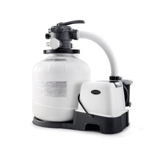 Intex Sand Filter Pump with ECO Sanitizing System for pools up to 56800 Liters cm, Water Flow 10mq / H