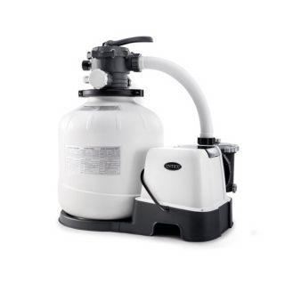 Pompa Filtro Intex a Sabbia con Sistema Sanificazione ECO per piscine fino a cm 56800 Litri, Flusso Acqua 10mq/H