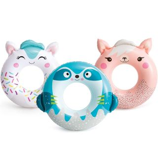 Inflatable Floating Donut for Pool / Sea Life Buoy Cute Animals cm76 Intex (various assortment, according to availabilit
