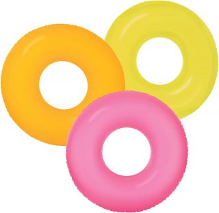 Inflatable Float Donut for Pool / Sea Neon Intex Lifebuoy 91 cm (various colors according to availability)