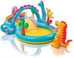 Inflatable Games Children Dinosaurs Intex Water Slide 302x229x112 cm