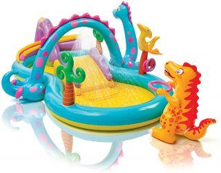 Gonfiabile Giochi Bambini Dinosauri Scivolo Acqua Intex cm 302x229x112