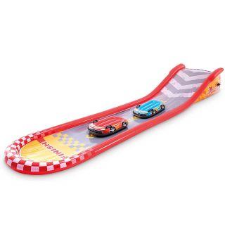 Gonfiabile Giochi Bambini Scivolo Acqua Racing Intex cm 561x190x76