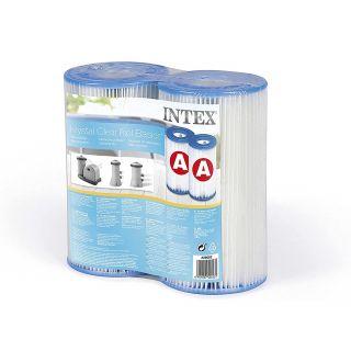 Intex Cartuccia Filtro A Media - Altezza 20 cm, diametro esterno: 10,7cm, diametro interno 4,7cm Intex 29002 conf.2 pz.