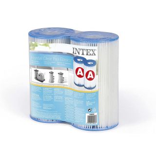 Intex Medium Filter Cartridge - Height 20cm, Outside Diameter: 10.7cm, Inside Diameter 4.7cm Intex 29002    pack of 2 pc