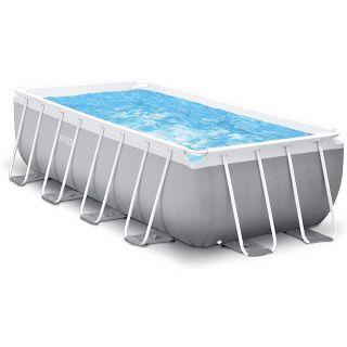 Intex Above Ground Rectangular Pool Prism Frame dim. 400x200x122 cm, 8418 liters, with filter pump, safety ladder