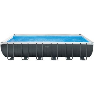 Intex Above Ground Rectangular Pool Ultra XTR Frame Pools dim.732x366x132cm Sand filter, Ladder, Towel and Cover