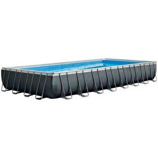 Intex Above Ground Rectangular Pool Ultra XTR Frame dim.975x488x132cm, Sand Filter, Ladder, Cloth and Cover