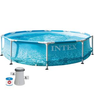 Intex Above Ground Round Metal Frame Pool dim. 305 x 76 cm, 4485 liters, with filter pump