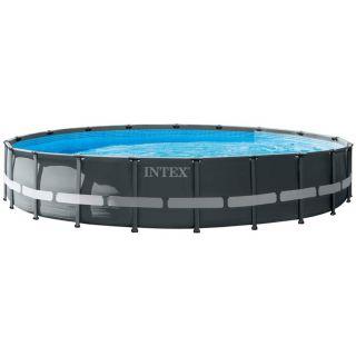 Piscina Intex Fuori Terra Rotonda Ultra XTR Frame Pools dim. 610 x 122 cm, Pompa Sabbia, Scaletta Doppia, copertura telo
