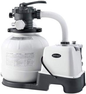 Pompa Filtro Intex a Sabbia con Sanificazione ECO per piscine fino a 32200 Lt. Flusso Acqua 7,9mq/H, sistema 6 mq/H