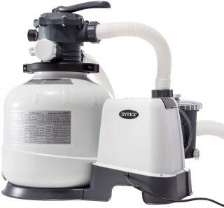 Pompa Filtro Intex a Sabbia Flusso Acqua 10,5 mq/H , Flusso sistema 8 mq/H , per XTR 7,32 - XTR rettangolare 9,75 x 4,88