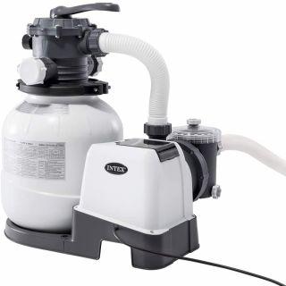 Pompa Filtro Intex a Sabbia Flusso Acqua 7,9 mq/H, Flusso sistema 6 mq/H, per XTR 5,49/6,10 - XTR rettangolare 7,32x3,66