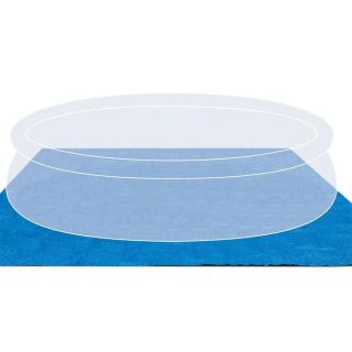 Ground Towel for Swimming Pool size 444x457 cm blue