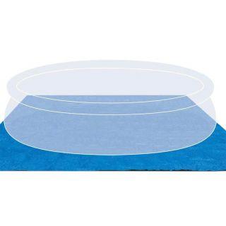 Telo di Base Terra per Piscina dimensioni 444x457 cm blu