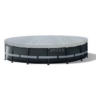 Telo di copertura per Piscina Frame Deluxe Intex 28040 diamtro 488 cm grigio