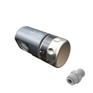 """Connection kit for 1Kg Co2 cylinder Rechargeable quick coupling 1/4 """"hose"""