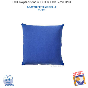 Cushion cover in blue color UN-3