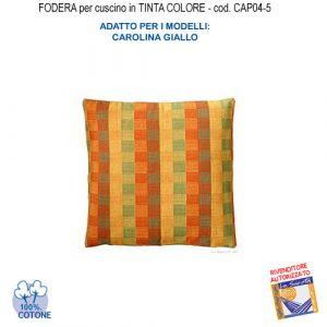 Federa In Tinta Per Cuscino Colore  Carolina Giallo Cap04-5 (FS)