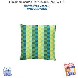 Federa In Tinta Per Cuscino Colore  Carolina Verde Cap04-4 (FS)