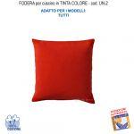 Federa In Tinta Per Cuscino Colore  Rosso Un-2 (FS)